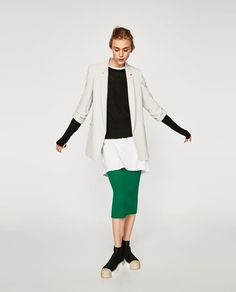 ZARA - WOMAN - BLAZER WITH ROLLED-UP SLEEVES
