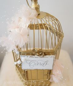 Birdcage Wedding Card Holder | Pretty in Peach Birdcage Card Holder by prettypleasedesign, $65.00