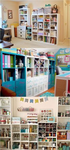 I want a craft room! 21 great ways to completely organize your workshop or craft room: how to best utilize pegboards, shelving, closet and wall spaces, and much more! - A Piece Of Rainbow