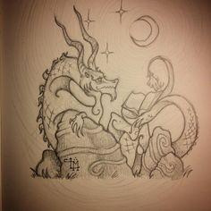 #drawing #dragon #drake #art #sketch #illustration #artist #bookworm #reading #instaart #fantasyart #folklore #goodreads