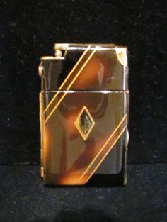 Vintage Case Lighter Cigarette Case Marathon Case Lighter Art Deco Case 1940s Cigarette Case Enamel Case Lighter Working Case Lighter