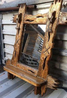 Rustic Furniture For Sale Rustic Log Furniture, Driftwood Furniture, Unique Furniture, Furniture Projects, Wood Projects, Diy Furniture, Furniture Design, Barn Wood, Rustic Wood