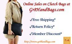 Online Sales on Clutch Bags at Gr8HandBags.com