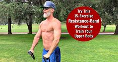 Resistance Band Workout for Upper Body bull Over Fifty and Fit: A complete, upper-body workout using a resistance band to create strength, shape, and definition in your torso. (Video and list included. Rowing Workout, Band Workout, Gym Workout Videos, Workout Ideas, Major Muscles, Core Muscles, Big Muscles, Back And Shoulder Workout, Over 50 Fitness