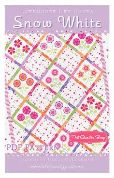 Snow White Downloadable PDF Quilt PatternLakehouse Dry Goods - Quilt Patterns | Fat Quarter Shop