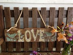 REclaimed barn wood painted sign for outdoor weddings. Add initials, wedding date..