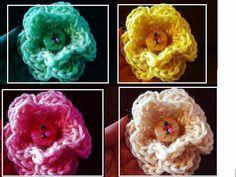 3 LAYER CROCHET FLOWER