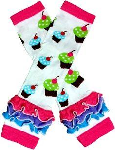 cc216db4b15 Bright Cupcake Ruffle Cotton Ruffle Leg Warmers Girls Leg Warmers