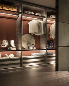 Sectional walk-in wardrobe OPEN by Lema