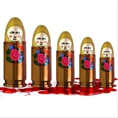 "From Russia with ""love"" #illustration #drawing #painting #art #artwork #digital #design #idea #artgallery #instaart #myart #bullets #war #matrioshka #blood #russia #ukraine #putin #propaganda #putinhuylo"