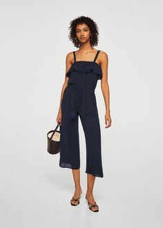 Ruffled off-shoulder jumpsuit