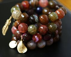 Agate Bracelets  Stretchy Bracelets  Stacking by LHJewelryBoutique