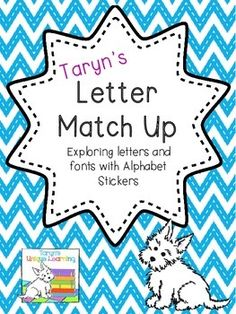 FREEBIE- What kiddo doesn't love to use stickers?  This is a very low maintenance activity that is great practice for your students learning their letters.  (And can be adapted for beginning sounds too.)  Simply provide a tray of alphabet stickers and students can explore the variations and fonts of letters.