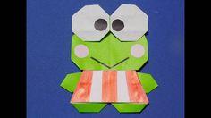 キャラクター折り紙 けろっぴ(カエル) の簡単な折り方character origami - YouTube