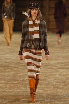 The Chanel Pre-Fall 2014 Collection Plays with Cowboy Motifs #festivalstyle #bohemian trendhunter.com