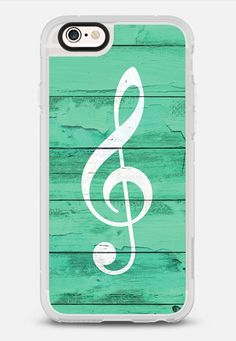 Hipster White Music Note Girly Turquoise Wood iPhone 6s case by Girly Trend | Casetify