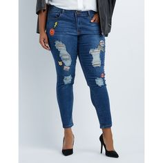 7 For All Mankind Distressed Coated Ankle Skinny Jeans ($240 ...
