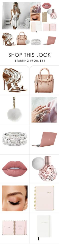 """Going for a meeting"" by iloveyouflower ❤ liked on Polyvore featuring GET LOST, Aquazzura, Alexander McQueen, Sofia Cashmere, Sole Society, Incase, Lime Crime, Avon, Sugar Paper and Kate Spade"