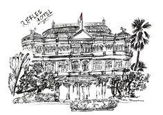 raffles hotel illustration - Google Search