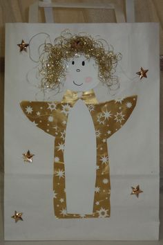 Christmas Activities For Kids, Christmas Crafts, Christmas Decorations, Xmas, Crafts For Kids To Make, How To Make, Angel Crafts, Winter, Advent