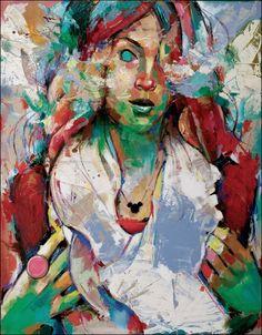 "Saatchi Online Artist: Mihail -Miho- Korubin ; Oil, 2012, Painting ""Dragon""  #art #Figurative #paintings #figures #faces #portraits #hands #korubin #mihail #oil #canvas"