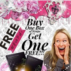 Get 4 boxes of wraps and get the second box FREE1  Simply amazing and only here until midnight December 31st!! Treat yourself to feeling good in your own skin this New Years!!! call/text 520-840-8770 http://bodycontouringwrapsonline.com/body-wrap-information/it-works-holiday-gifts