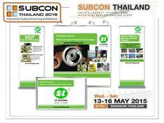 ห้ามพลาดนะครับเพื่อนๆท่านใดสนใจเรื่องนวัตกรรม เดือนหน้านี้ เราจัดแสดงสินค้าและนวัตกรรมของ ST.RIZING  ในงาน SUBCON 2015 มาเจอกับเราได้ครับ  www.strizing.com Bangkok Thailand