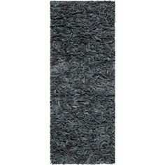 "Safavieh Leather Shag Runner Rug Lsg511N-24 Rugs Gray Knotted 2'3"" X 4' In Grey #Safavieh"