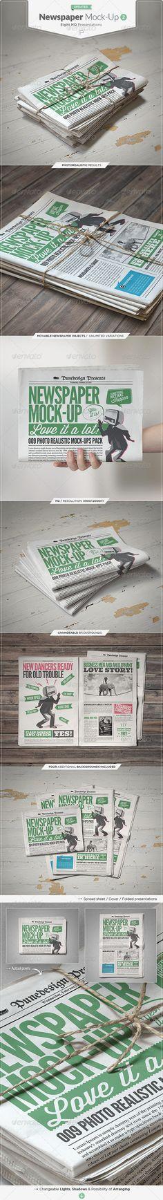 Newspaper / Newsletter Mock-Up - 2 Download here: https://graphicriver.net/item/newspaper-newsletter-mockup-2/5220651?ref=KlitVogli