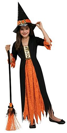 Take a look at this Black & Orange Witch Dress-Up Outfit - Girls on zulily today! Fete Halloween, Creative Halloween Costumes, Halloween Outfits, Halloween Ideas, Sparkly Outfits, Dress Up Outfits, Girl Outfits, Dresses, Witch Fancy Dress