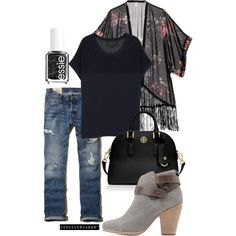 Boyfriend jeans and kimono. Fall fashion, Rag and Bone, Fall outfit