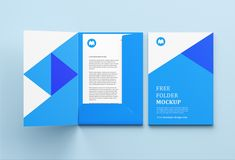 Free folder mockup in three separate PSD files. For private and commercial projects.