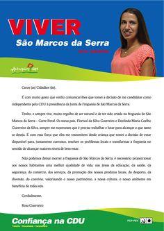 Carta da Candidata Cabeça de Lista à Junta de Freguesia de São Marcos da Serra. Autarquias 2013. #Silves #SãoMarcosdaSerra #CDU #Autárquicas2013