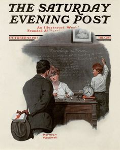 Norman Rockwell's Knowledge Is Power, October 27, 1917 Issue of The Saturday Evening Post