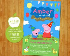 Peppa Pig Invitation Peppa Pig Instant Download by Makarito