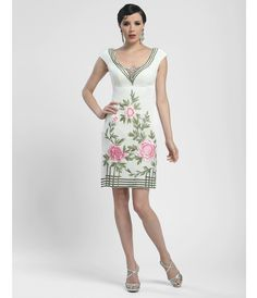 Beautiful 1920s style floral beaded dress - Sue Wong