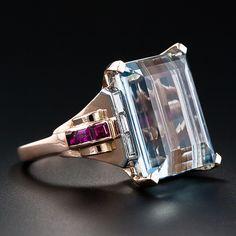 Van Cleef and Arpels Aquamarine Ring