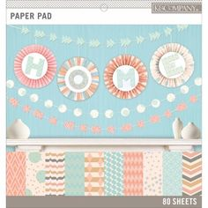 KandCompany Basics, 12 inch x 12 inch Paper Pad, 80pk, Pastels, 20 Designs/4 Each, Multicolor