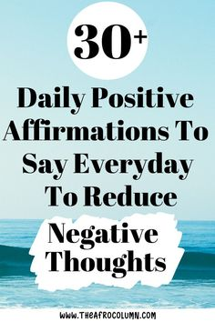 Have yo been struggling with negative thoughts, depression, anxiety, or low self-esteem? If so, these daily positive affirmations can help reduce that negativity and embrace all thing positive. Click to learn more about how positive affirmations work and get access to 30+ affirmations you can start saying today! #positivementalhealth #dailypositiveaffirmations #affirmations #mentalhealthawareness #positivethoughts