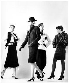 YSL fashion by Helmut Newton, 1981