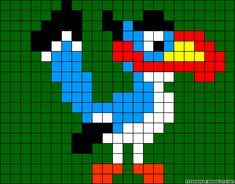 Zazu The Lion King perler bead pattern