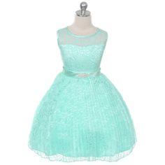 Dresses 51581 Mint Flower Girl Dress Birthday Party Wedding