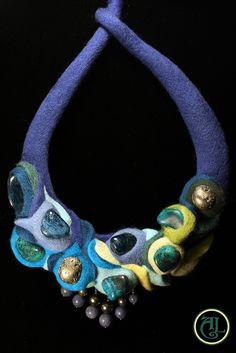 """Felted necklace """"Der Fjord"""" by Alshill, via Flickr"""