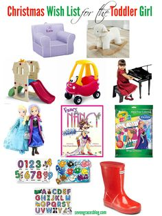 Seven Graces: Christmas Wish List for the Toddler. Best gift options for the toddler girl in your life!