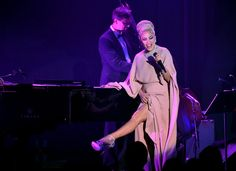Musician Lady Gaga performs onstage during amfAR's Inspiration Gala Los Angeles at Milk Studios on October 29, 2015 in Hollywood, California.
