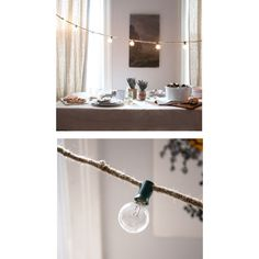 Twine String Lights DIY. This simple project gets a ton of bang for your buck by simply wrapping twine round the wires to outdoor string patio lights. Turn them into permanent or party lights for the indoor too.