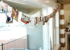 string cards over window or doorway