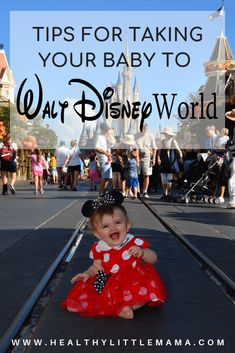 THE HAPPIEST PLACE ON EARTH Taking a baby to Walt Disney World can be a magical experience for everyone. Here are a few tips to make the trip the most fun! World Disney, Walt Disney World Vacations, Disney Parks, Disney Bound, Family Vacations, Disney Pixar, Disney With Baby, Disney Baby Clothes, Disney Babies