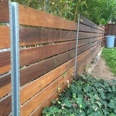 Photo of San Diego Fences & Gates - San Diego, CA, United States. Back view of the fence, we used steel posts. Diy Privacy Fence, Privacy Fence Designs, Diy Fence, Fence Landscaping, Backyard Fences, Fence Gate, Fenced In Yard, Driveway Gate, Pergola Plans