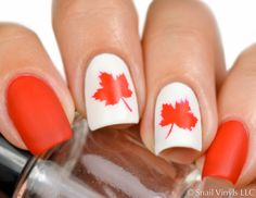 Autumn Leaf Stencils are perfect for fall manicures! Use the assorted Maple, Oak and other leaves as stickers for a pretty, easy manicure; or step it up and use the stencil to create a fabulous design
